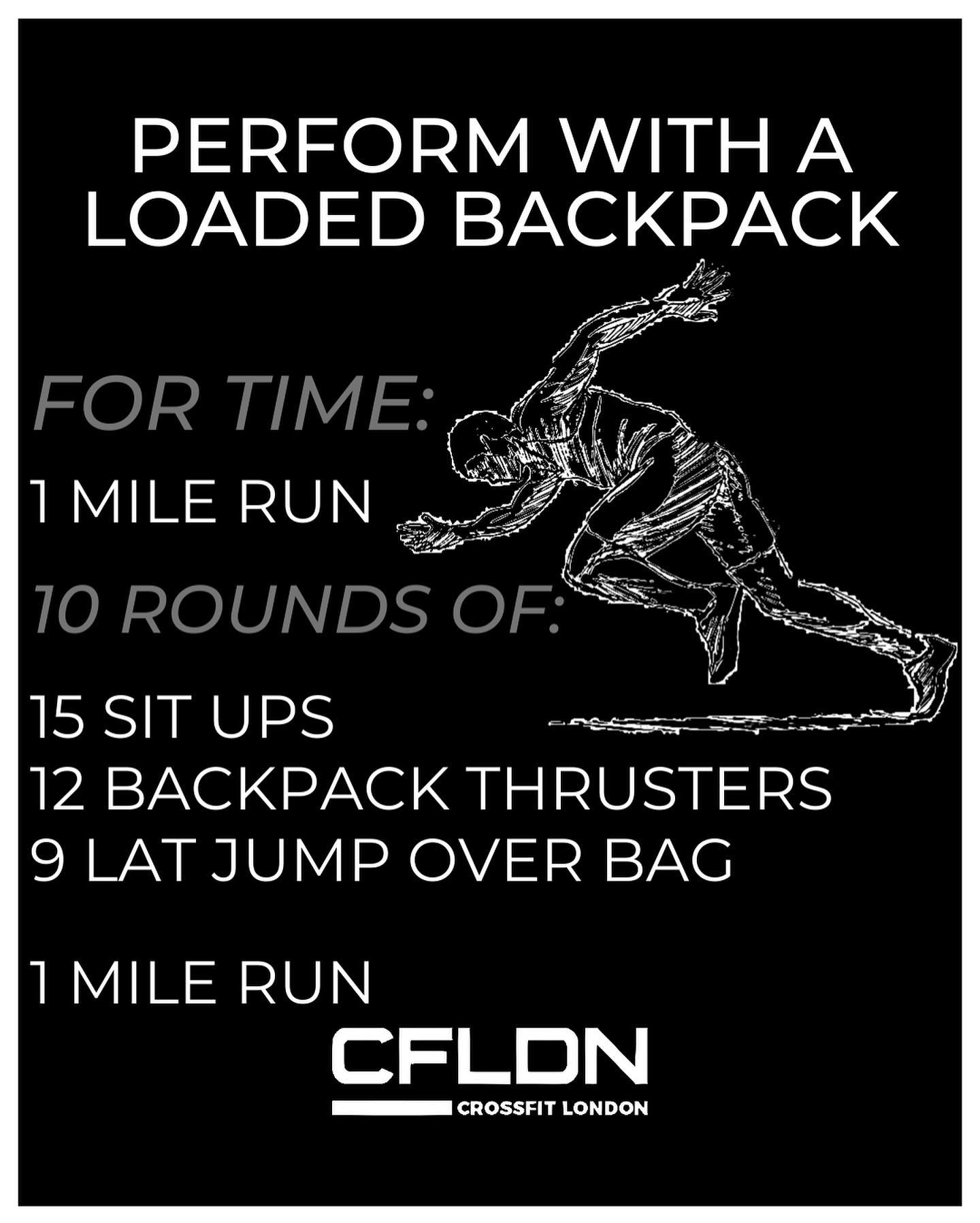 Home workouts:loaded back pack fun